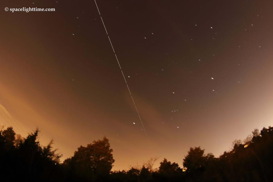 ISS Over Hampton, Virginia