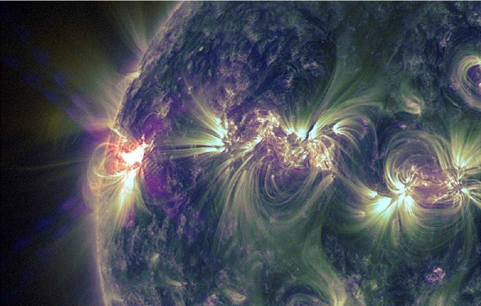 Huge Solar Flares Keep Erupting from Busy Sunspot