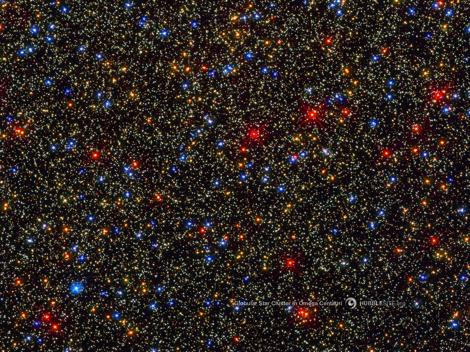 Globular Star Cluster Omega Centauri space wallpaper