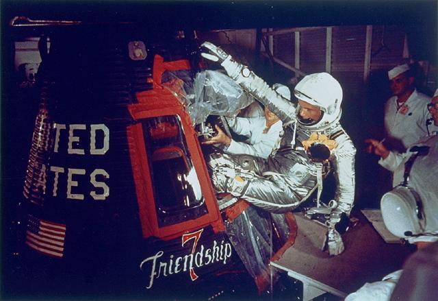 Space History Photo: John Glenn Entering Friendship 7