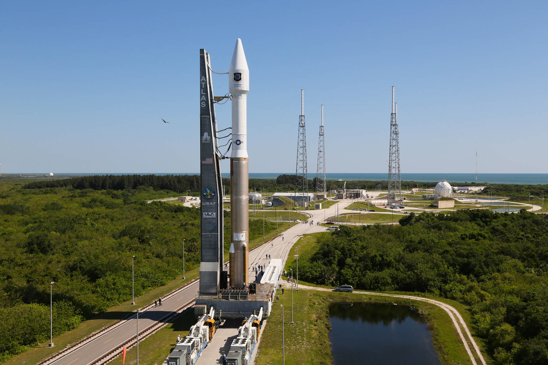 A United Launch Alliance Atlas V is Rolled to the Pad