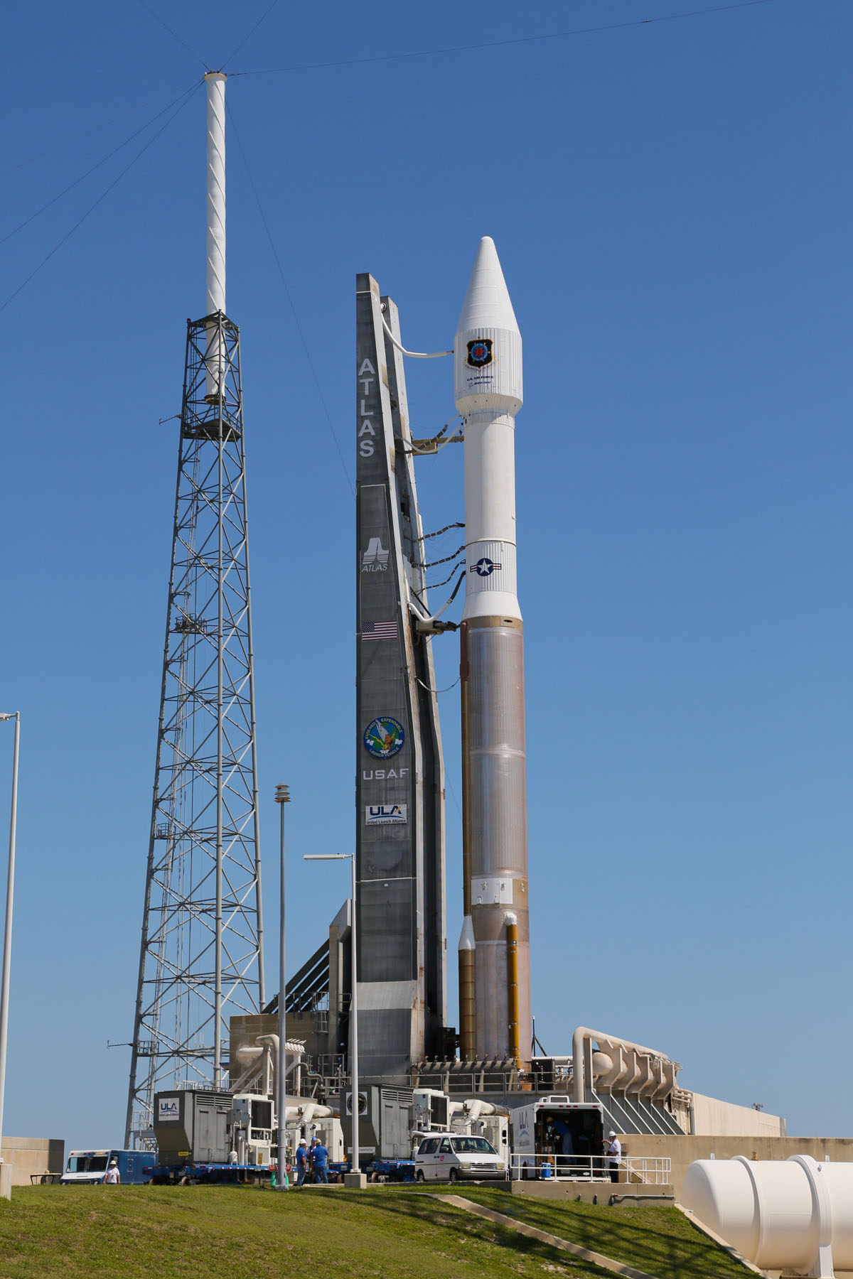 Atlas V GPS 2F-4 at the Launch Pad