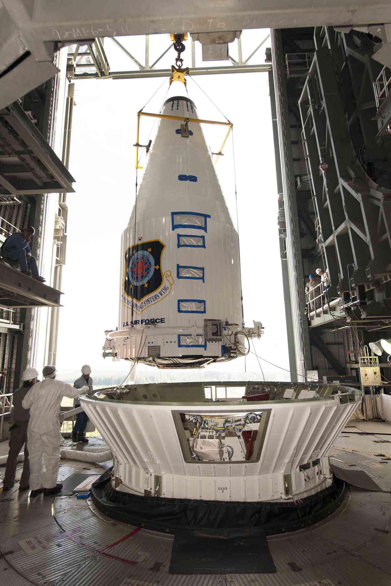 Atlas V GPS 2F-4 Inside Payload Fairing