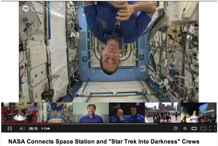Astronaut in Space Beams Hellos to 'Star Trek Into Darkness' Actors
