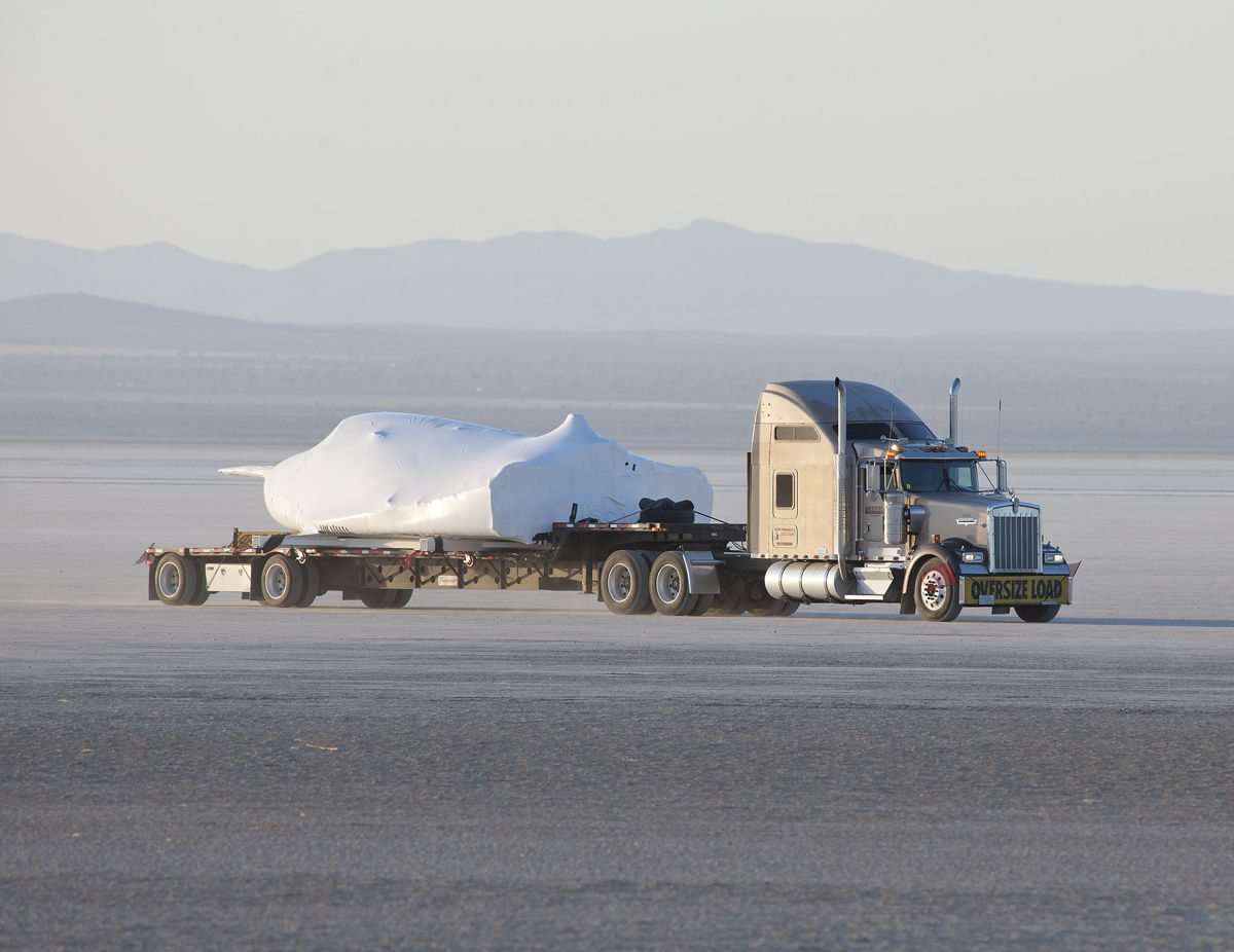 Private Space Plane Arrives in California for Key Flight Tests