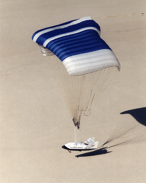 Space History Photo: X-38 Prototype Lands on Rogers Dry Lakebed