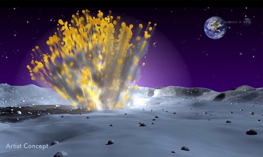 Huge Rock Crashes Into Moon, Sparks Giant Explosion