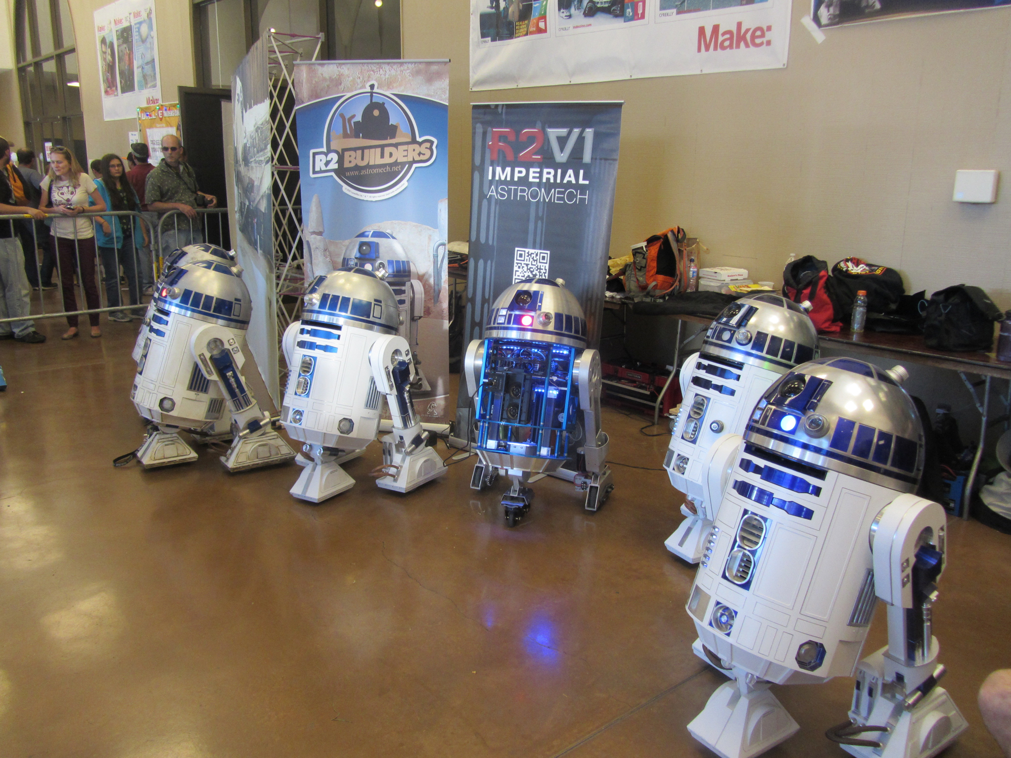R2 D2s Abound: Maker Faire Bay Area 2013