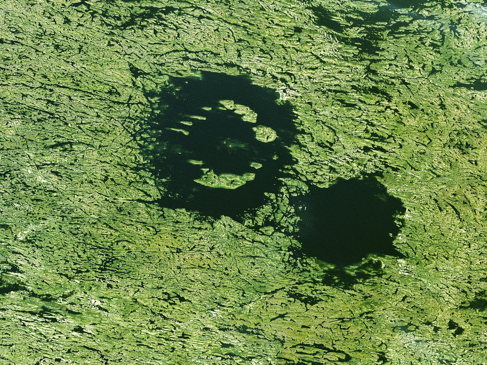 Clearwater Lakes Canada From Space wallpaper