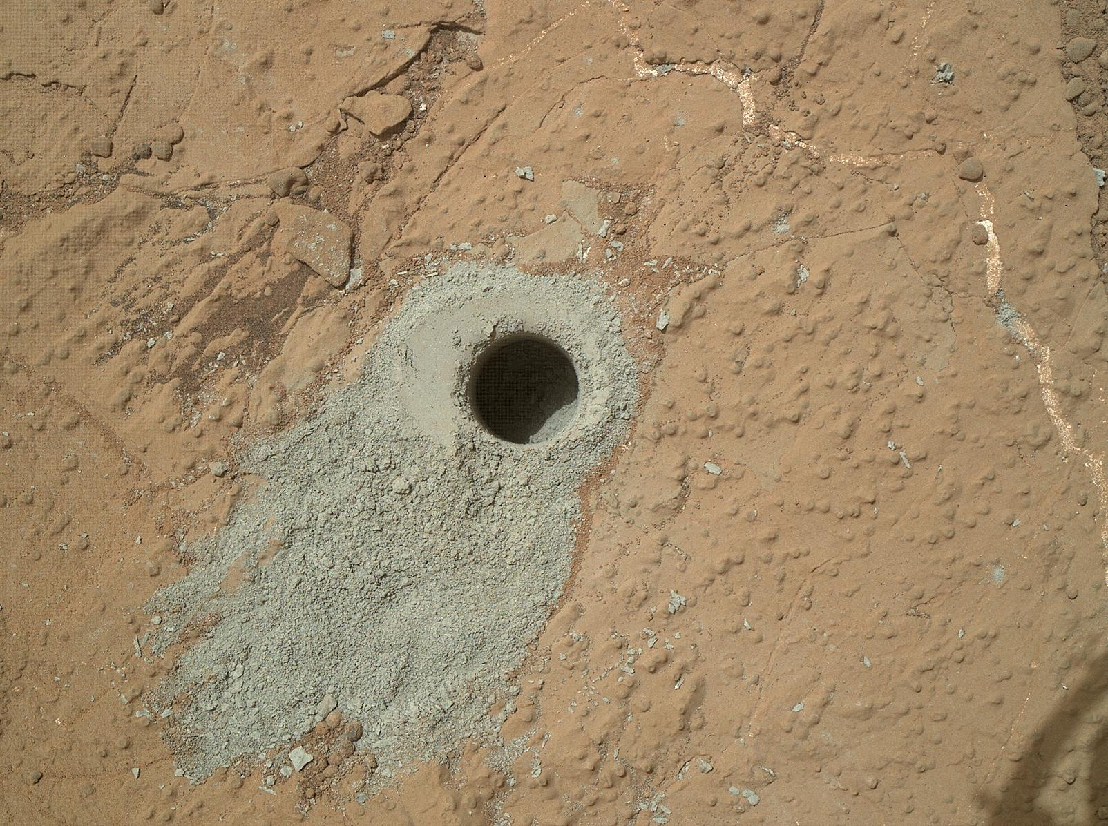 NASA's Curiosity Rover Drills Into 2nd Mars Rock