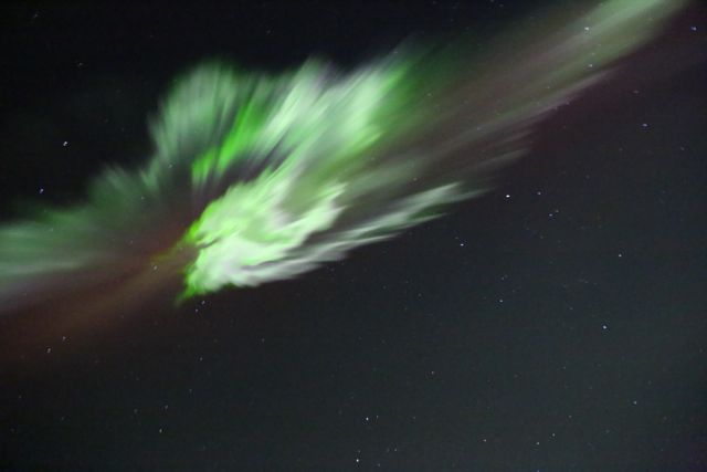 Aurora From Alaskan Mountains