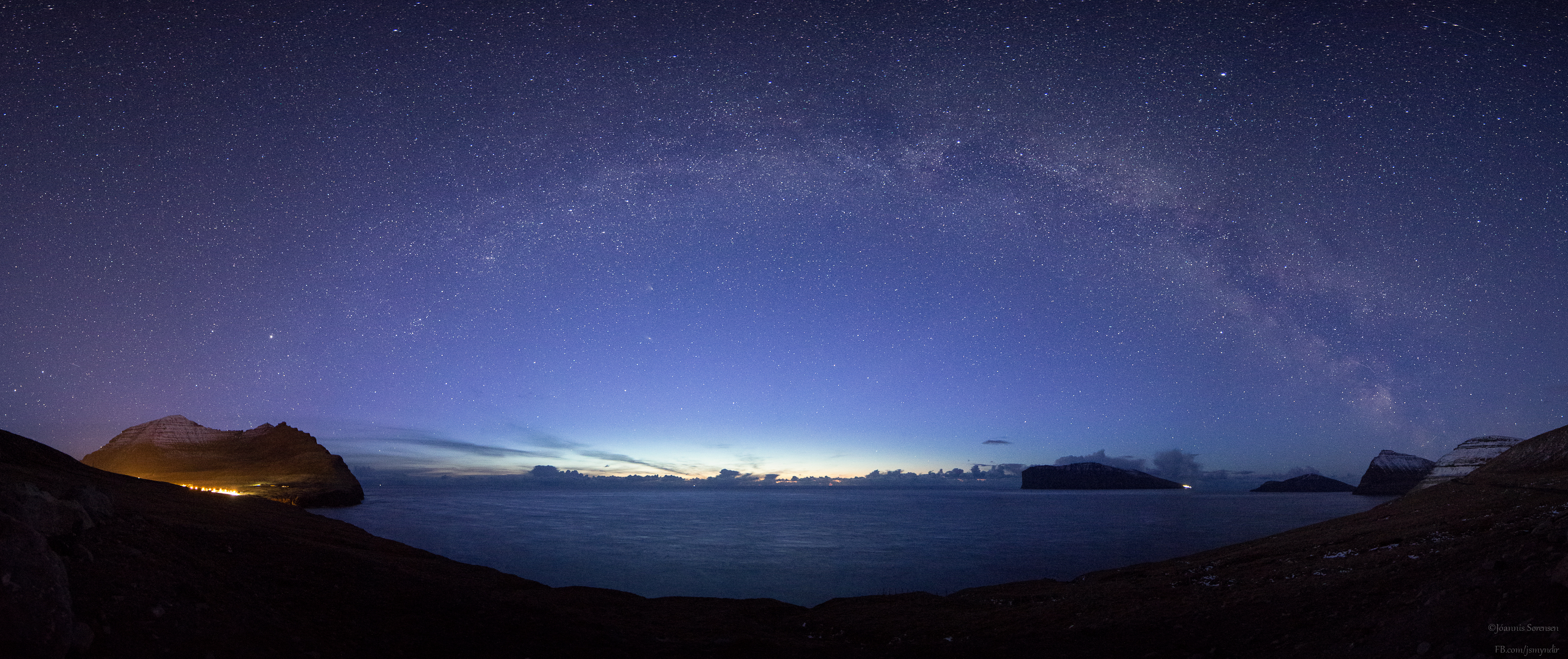 Milky Way Over Faroe Islands