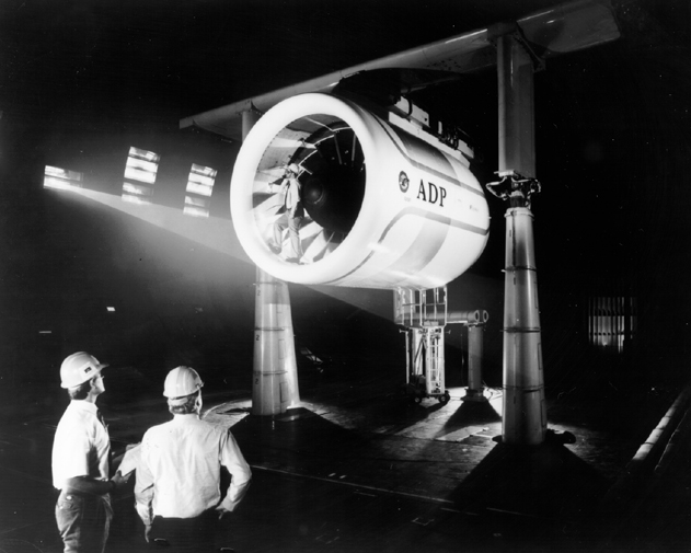 Space History Photo: Engine Test in Ames Full-Scale Aerodynamic Complex