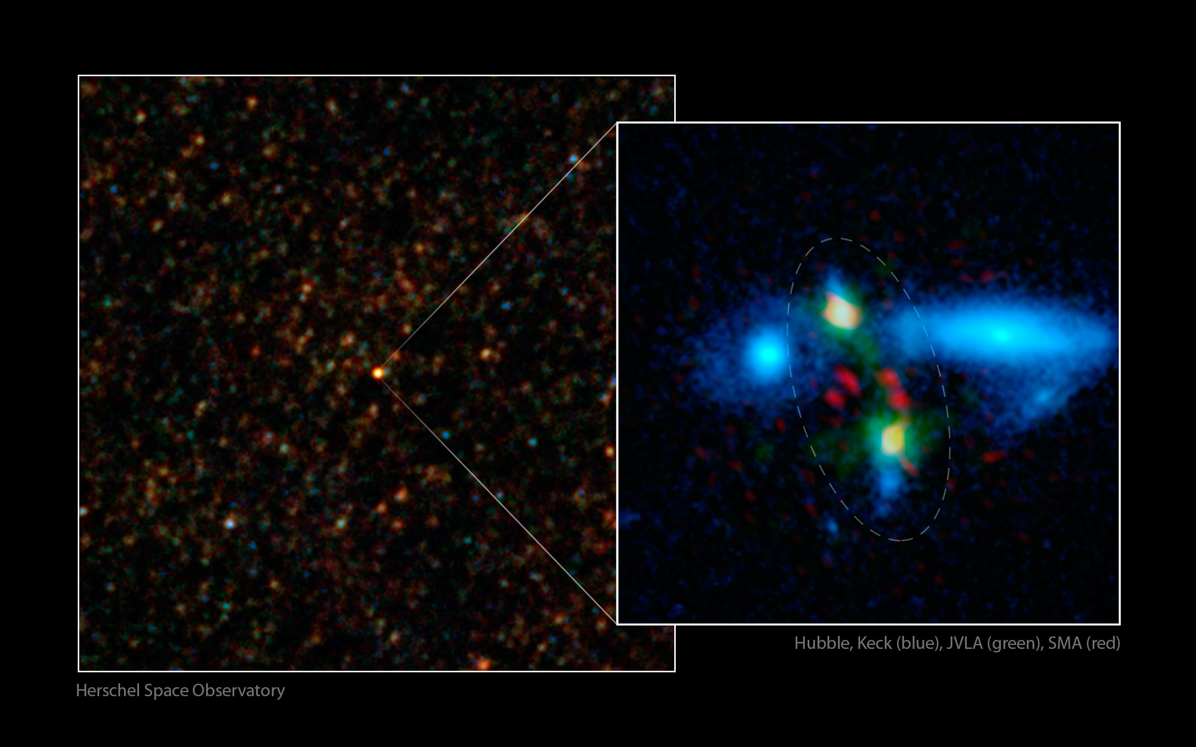 Ancient Galaxy Crash Spotted