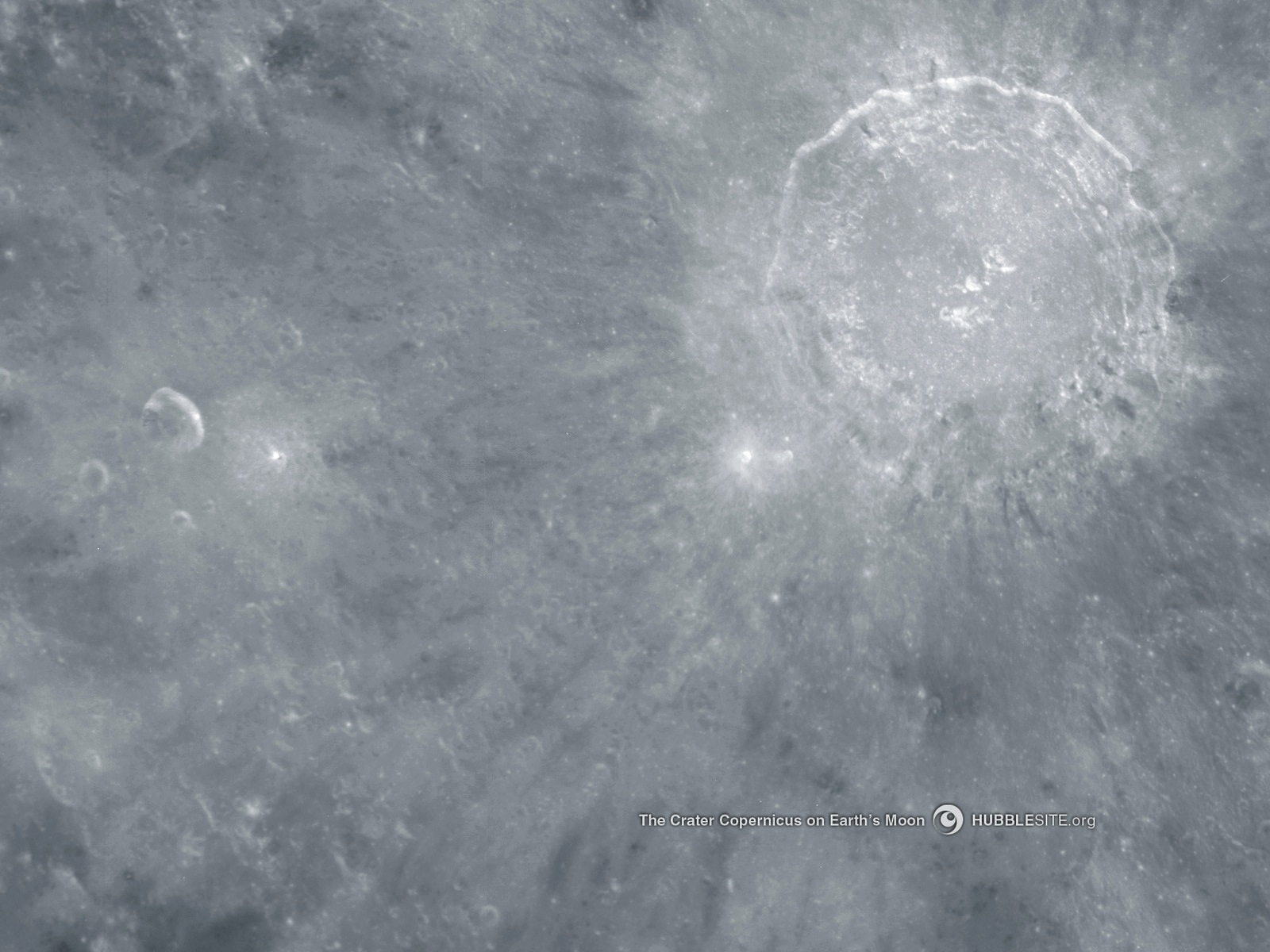 Crater Copernicus on the Moon Space wallpaper
