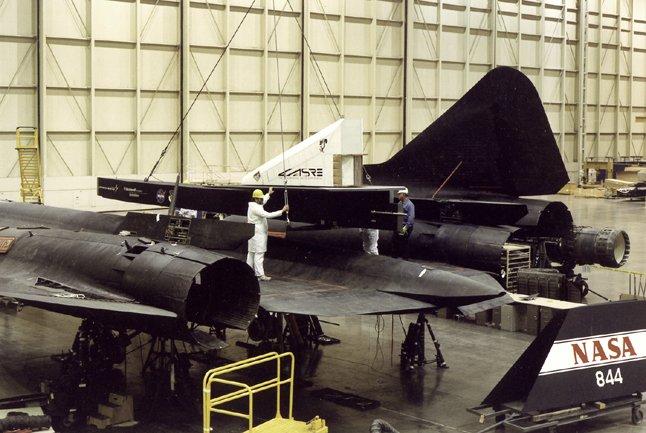 Space History Photo: LASRE Pod Mating to SR-71