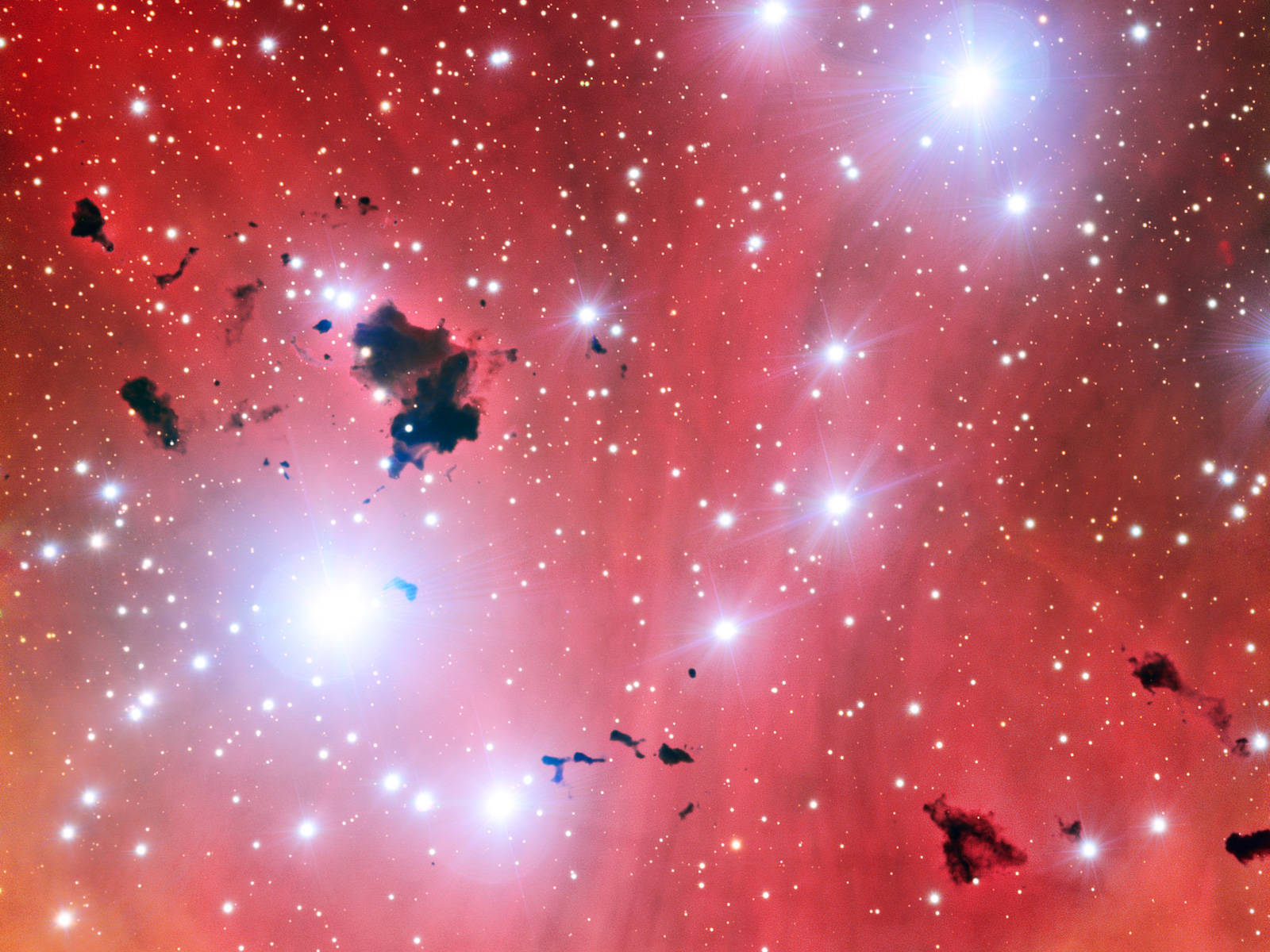 Stellar Nursery IC 2944 space wallpaper