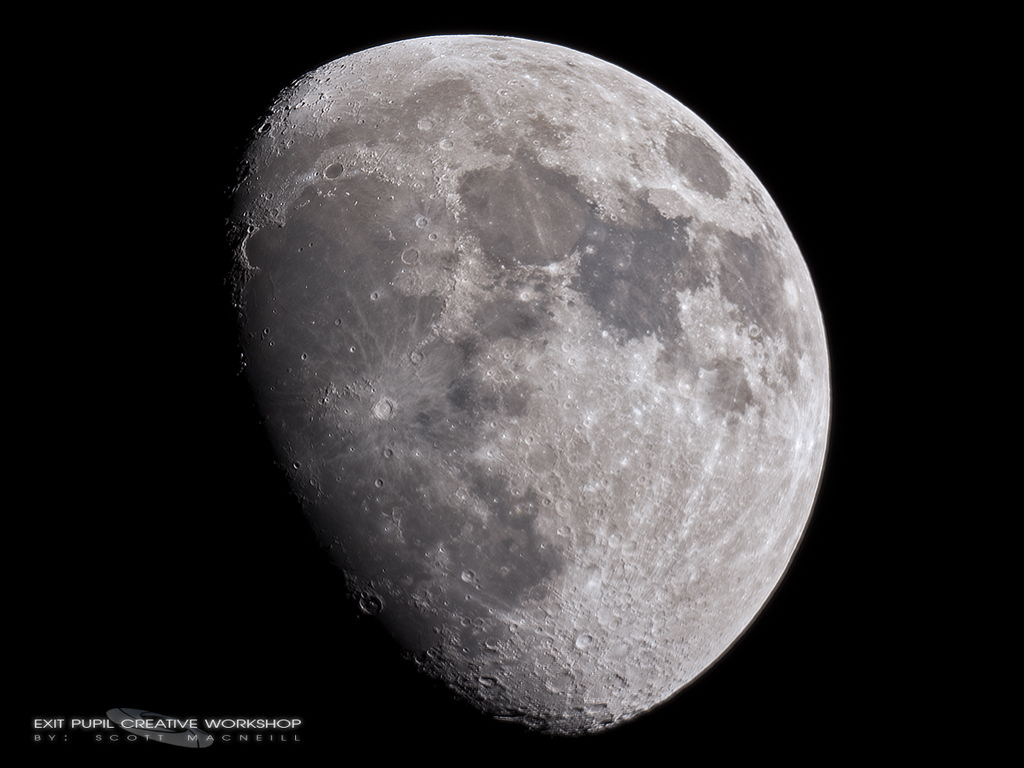 75% Waxing Gibbous Moon