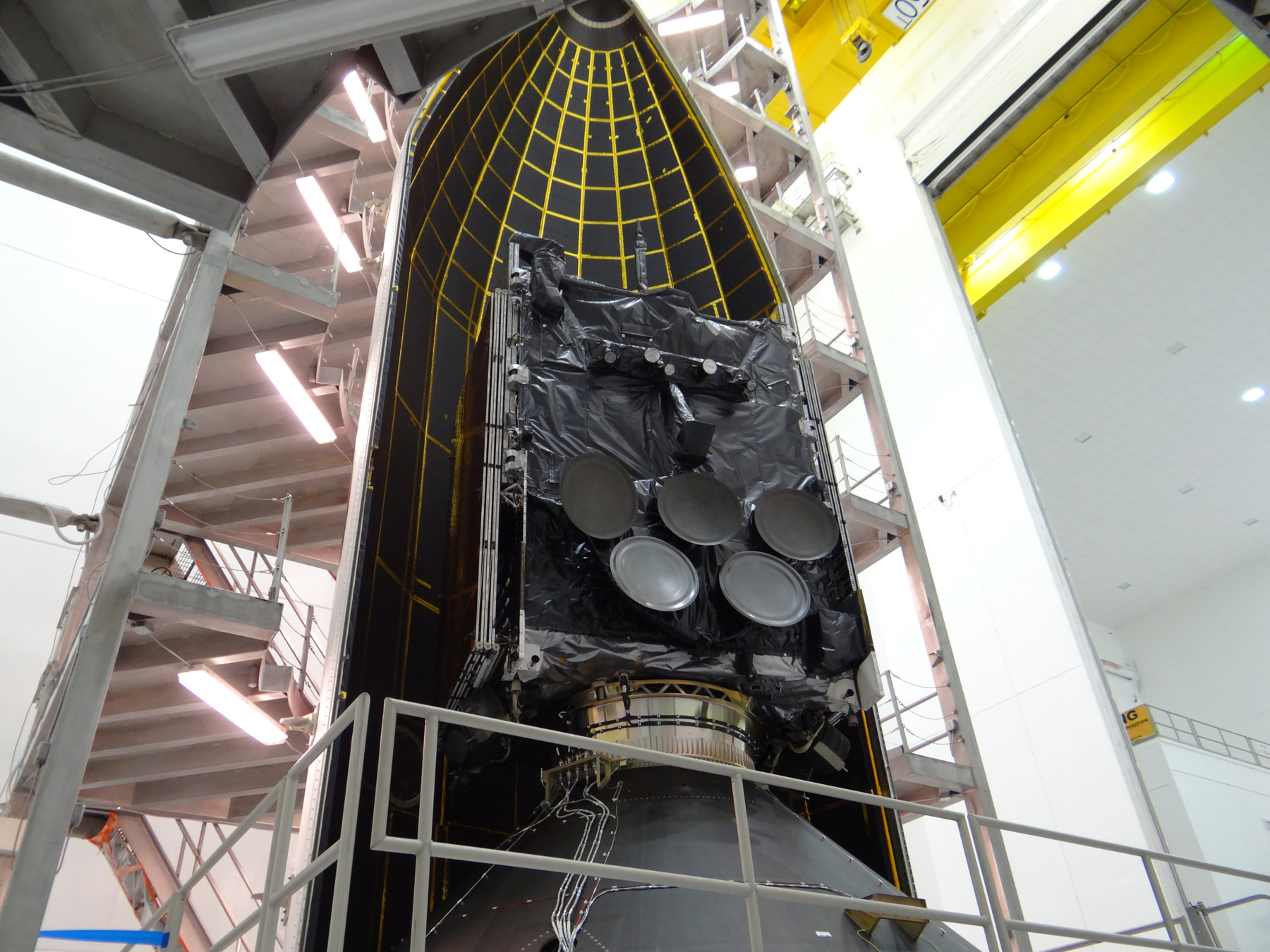 WGS-5 Satellite in Fairing
