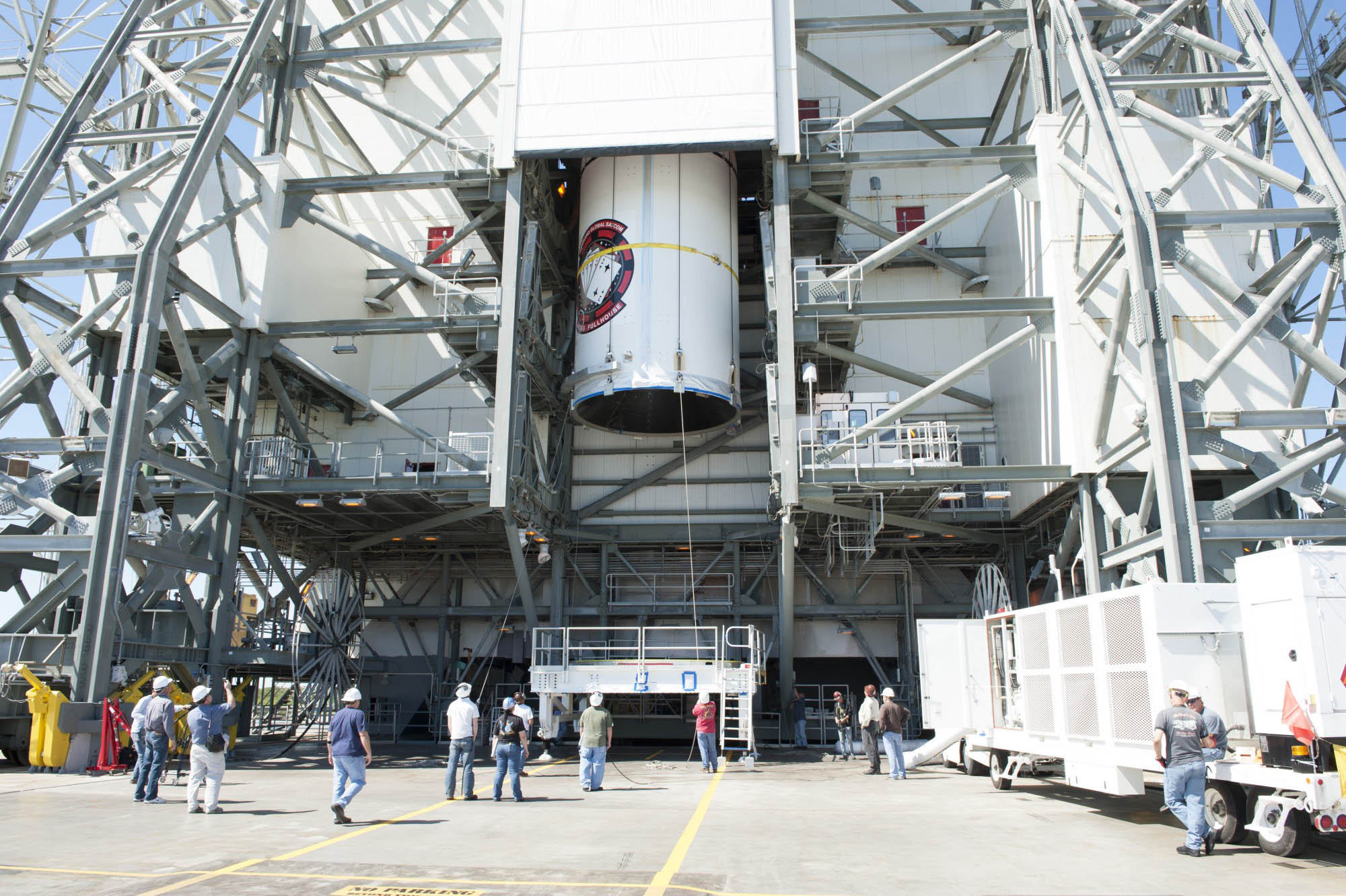 WGS-5 Satellite Mated to Delta 4 Rocket