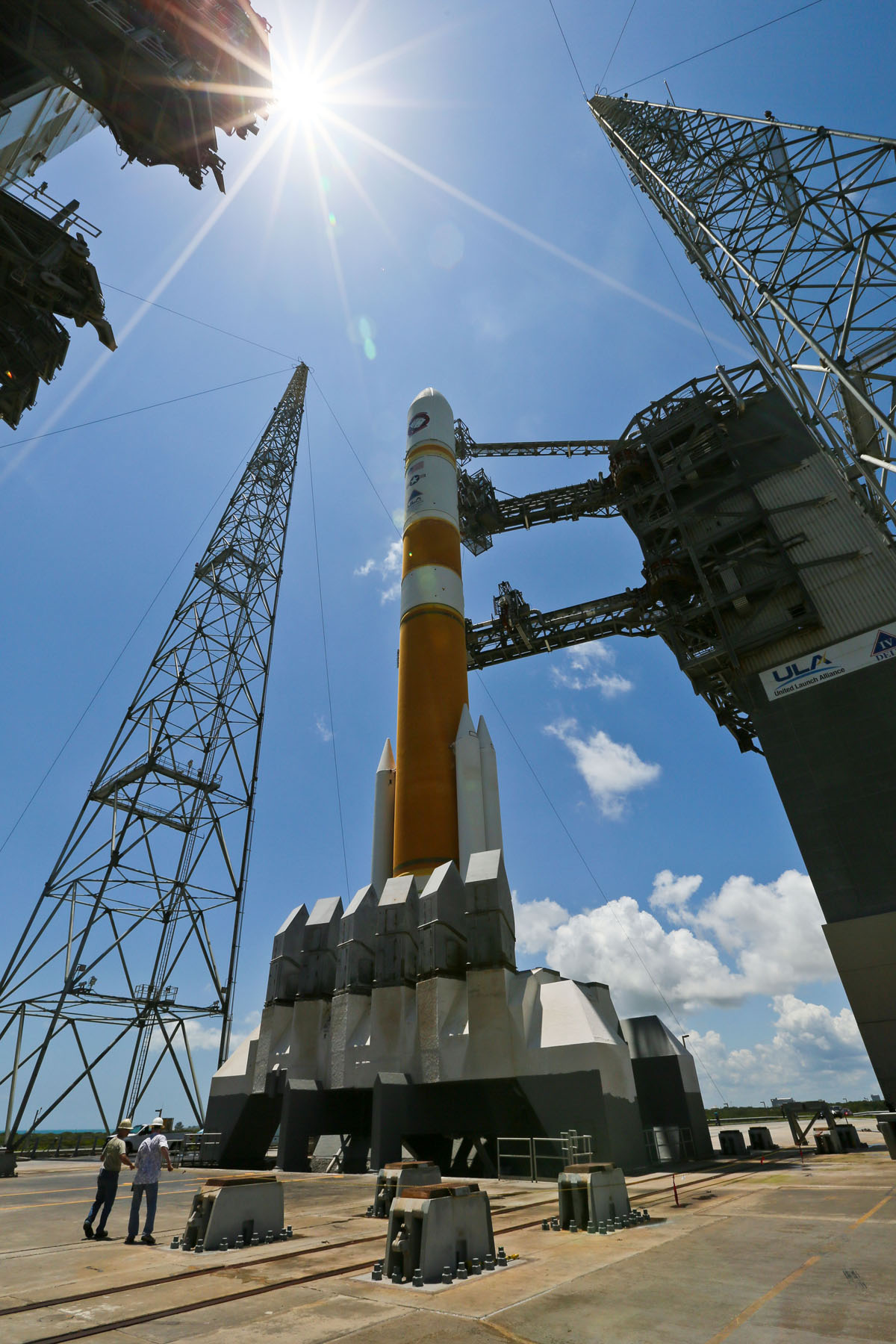 Delta 4 Rocket Prepared for Launch