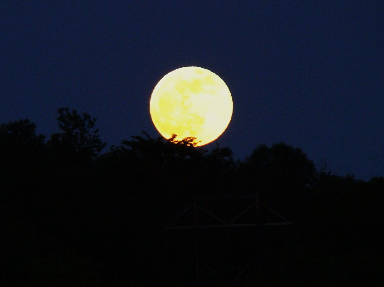 Full Moon Over Newark, Ohio
