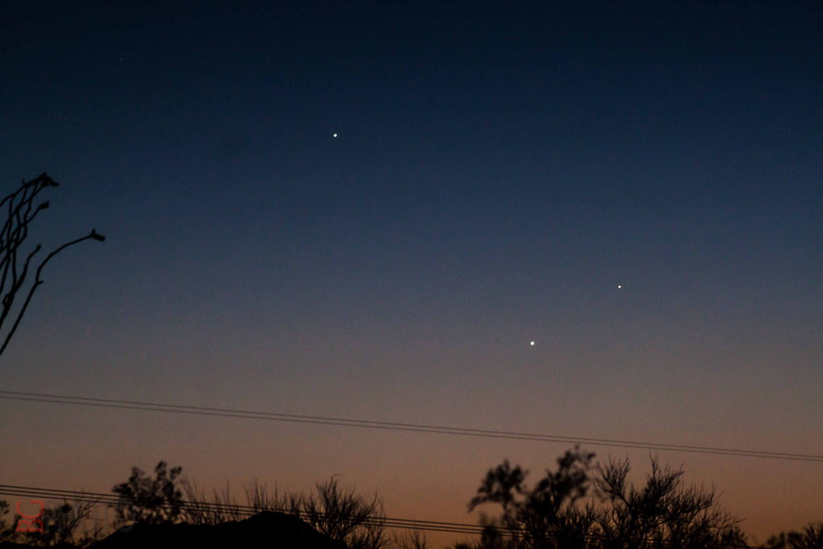 Jupiter, Mercury, and Venus Seen in Tucson, AZ