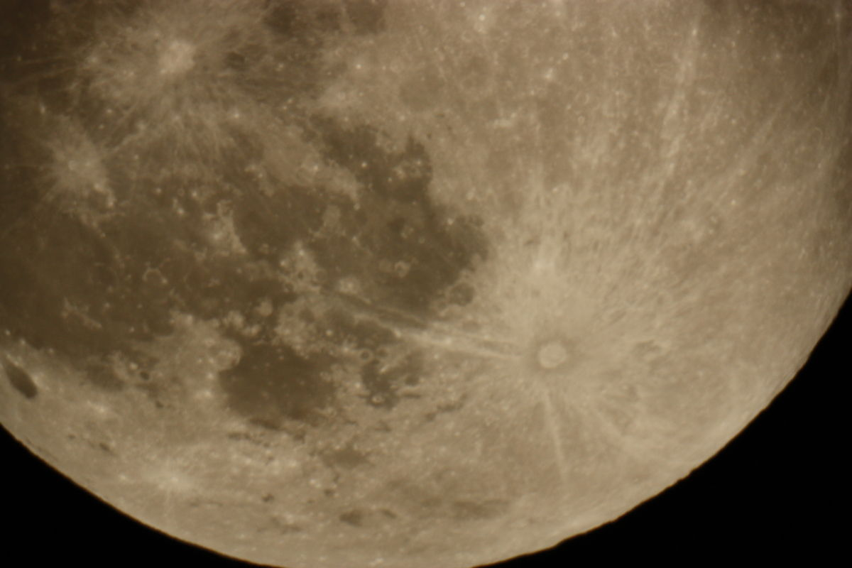 The Moon, May 24-25, 2013 (Detail)