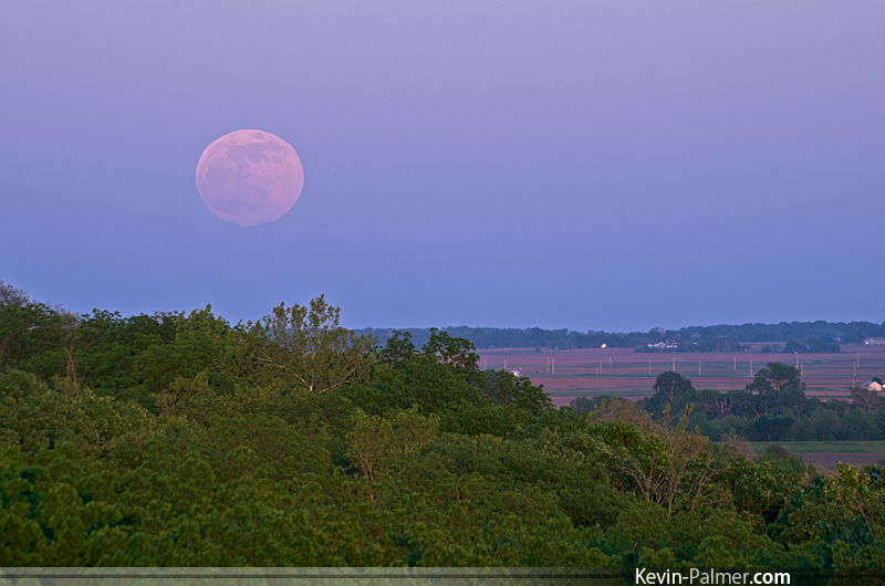 Moonrise Seen From Mason City, IL