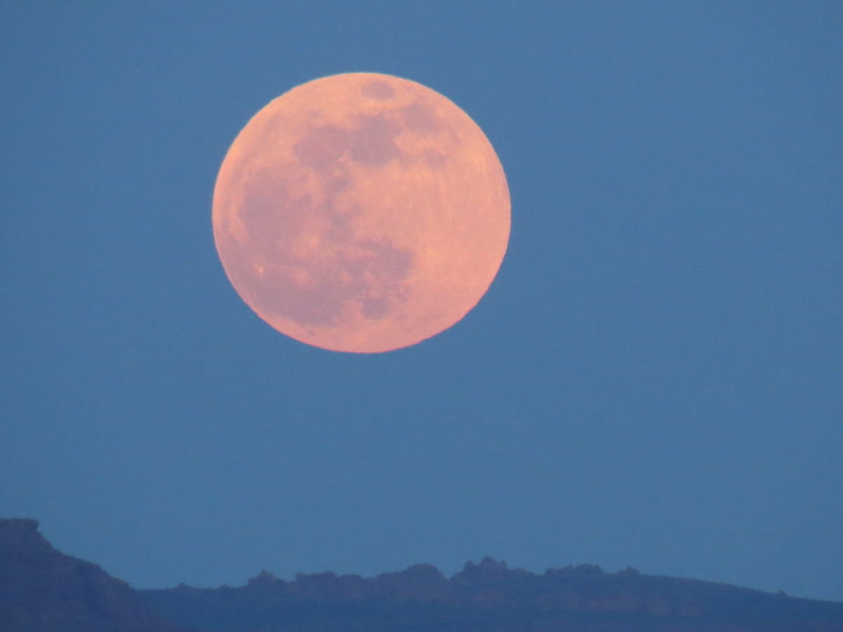 The Moon Seen in St. George, Utah
