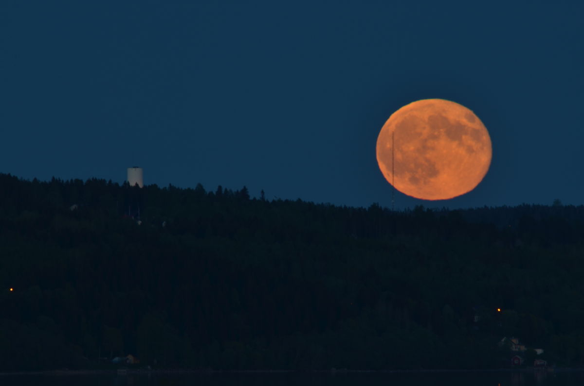 Moonrise Over Alnö Island, Sweden