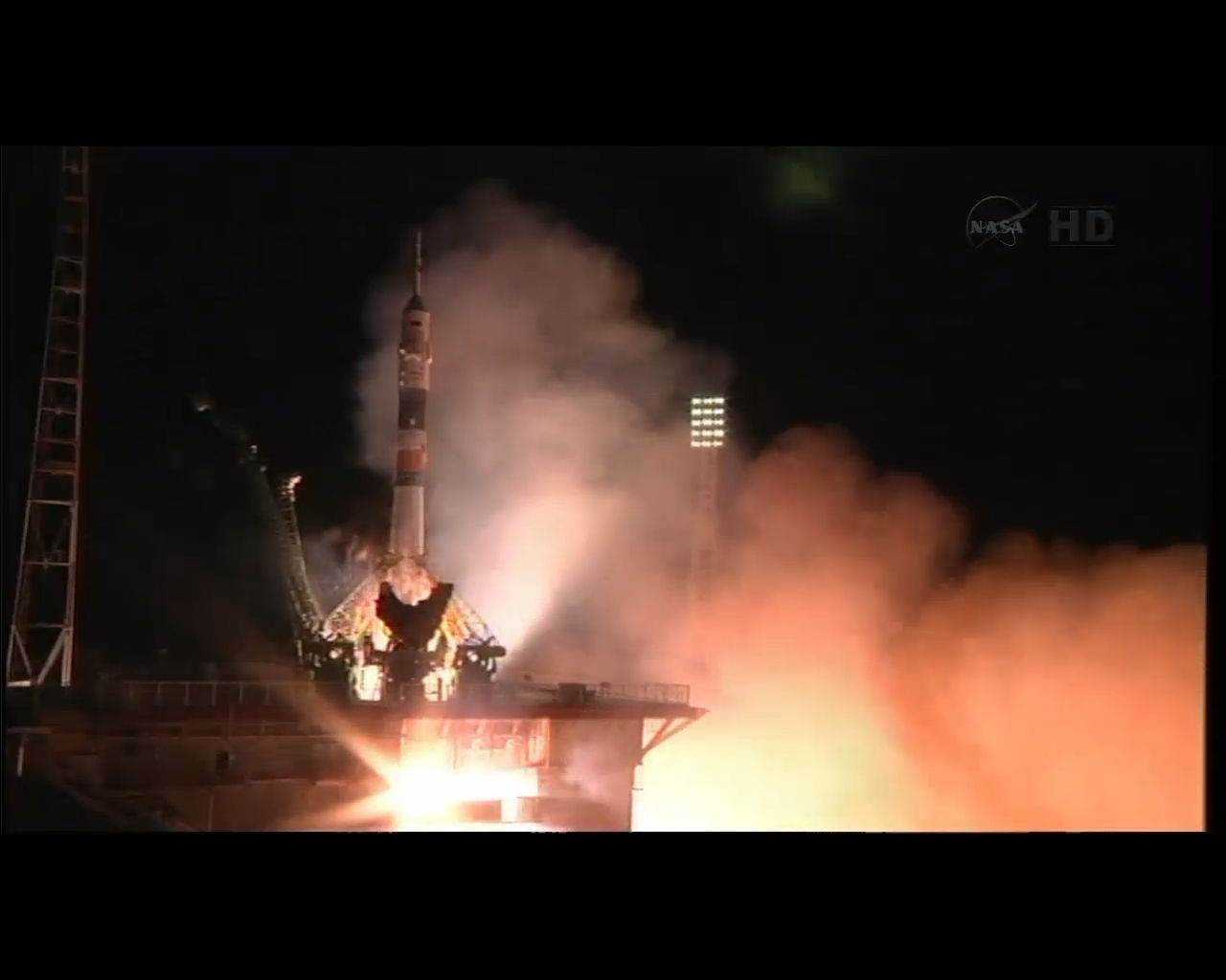 Astronauts Launch to Space Station on Express Trip