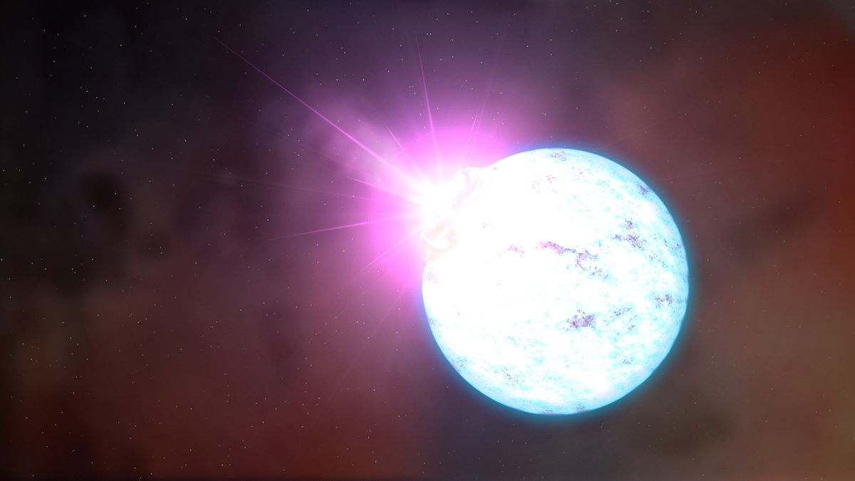 Fast-Spinning Magnetic Star Has Strange Glitch