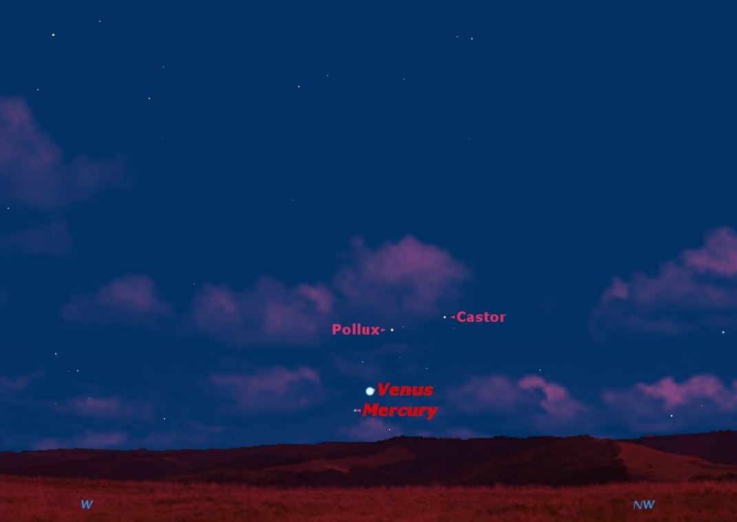 Venus and Mercury in Conjunction, June 2013