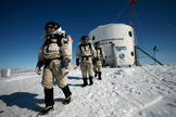 The Mars Society plan, called Mars Arctic 365 (MA365), will attempt to conduct a one-year simulated human Mars exploration mission in the Canadian high Arctic at its Flashline Mars Arctic Research Station (FMARS). Participants may appears as depicted here.
