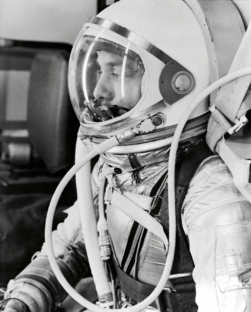 Space History Photo: Alan Shepard in Space Suit before Mercury Launch