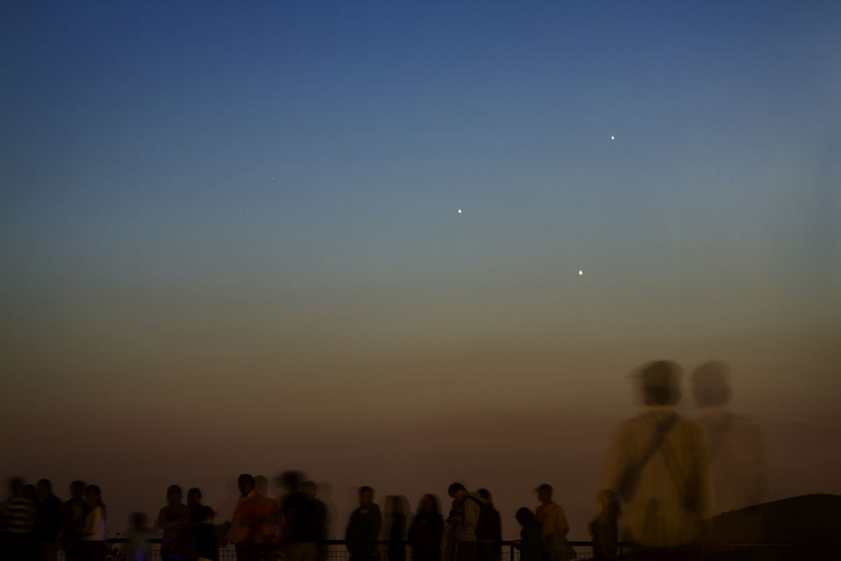Mercury, Venus, Jupiter and Humans at Griffith Observatory