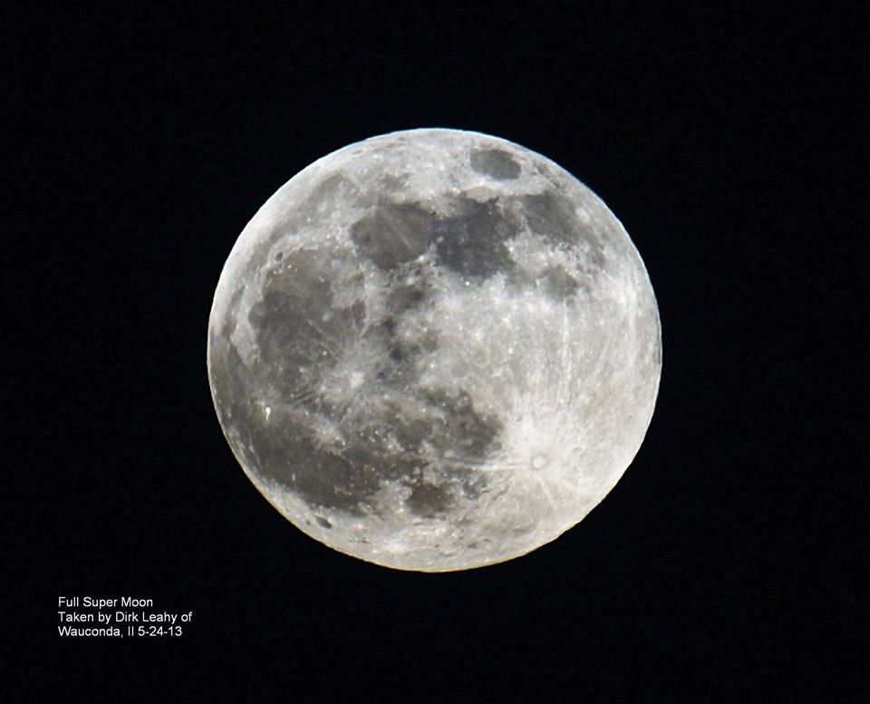 Amazing Supermoon of May 2013 Seen in Wauconda, IL
