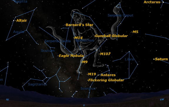 Ophiuchus is a little known but important constellation, which graces our evening skies in the summer.
