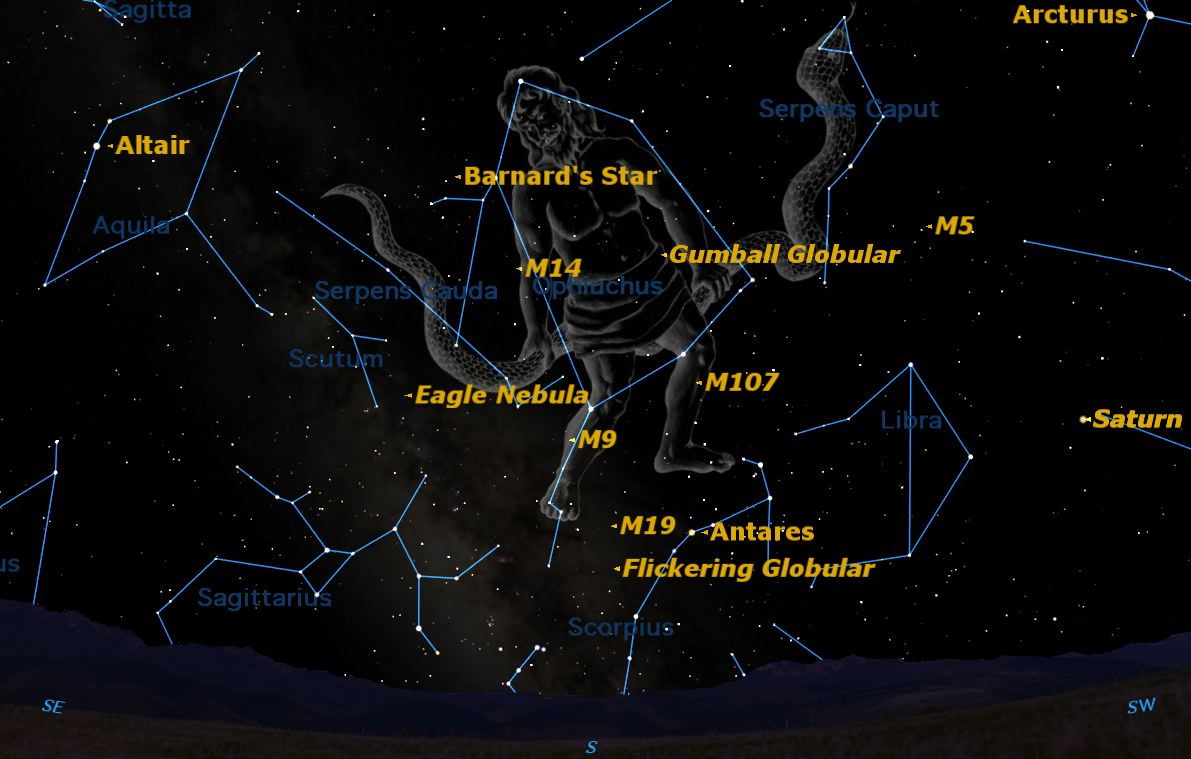 Summer Constellations: See Ophiuchus, the Celestial Snake Handler