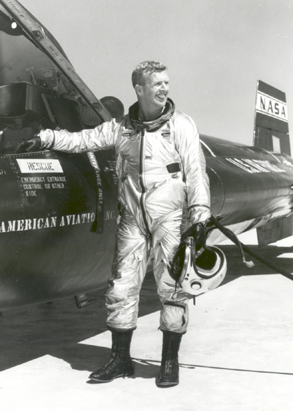 Space History Photo: Joe Walker Beside an X-15 Airplane
