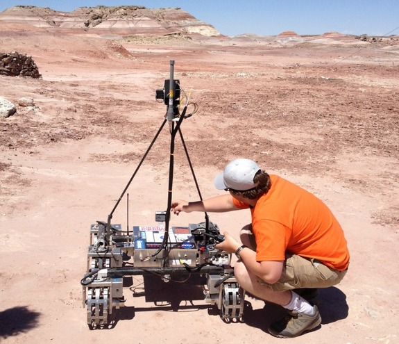Oregon State University's rover was the only one with metal wheels.