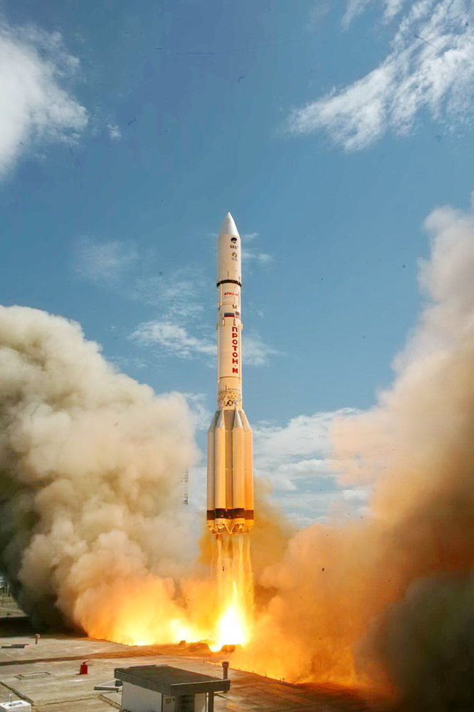 Russian Rocket Launches New Communications Satellite