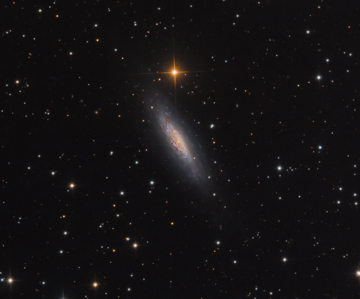 Lonely Dwarf Galaxy Spins in Dragon's Lair (Photo)