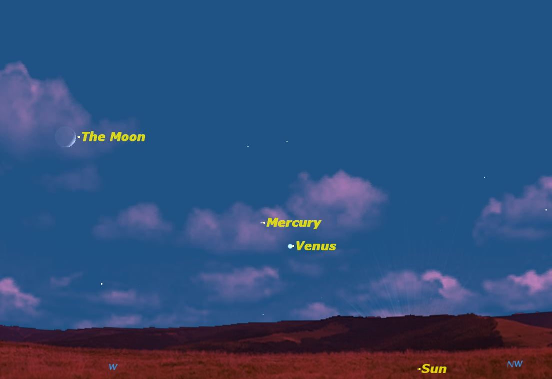Spot Elusive Mercury in Evening Sky Now