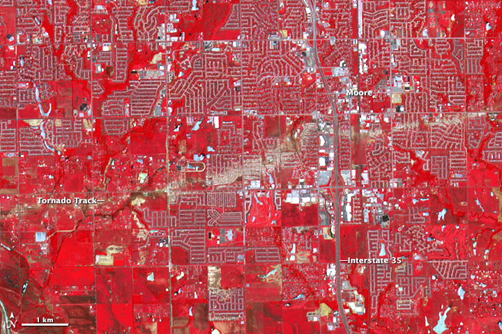 New Satellite Image Shows Moore Tornado Scar