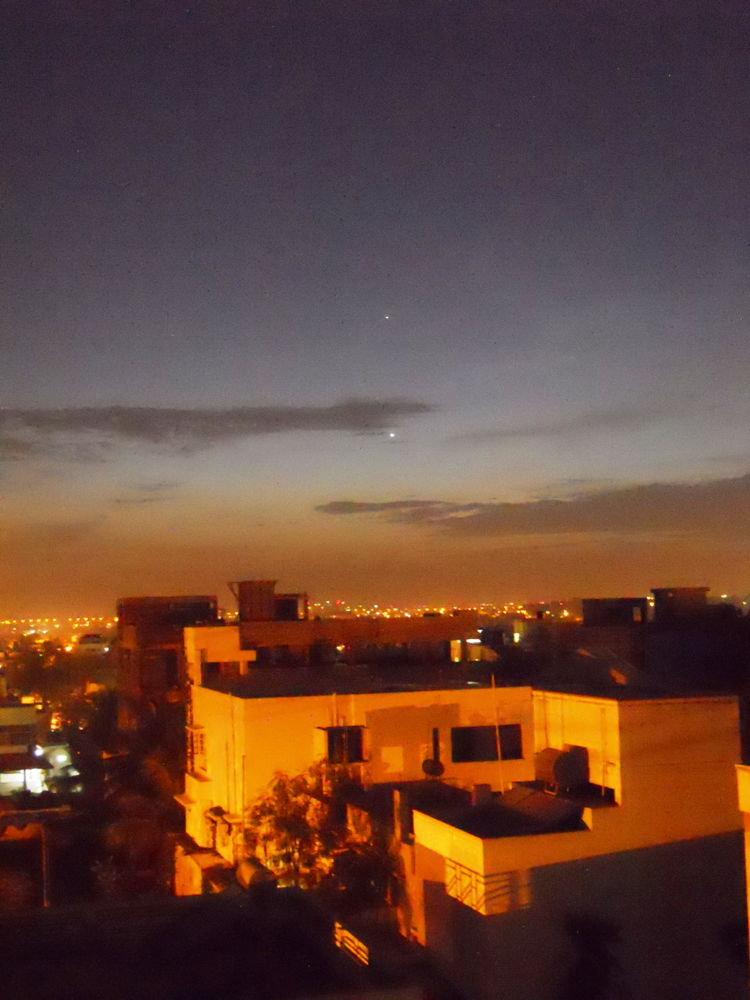 Mercury and Venus Over Bangalore, India