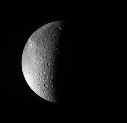 Dione: North Polar View