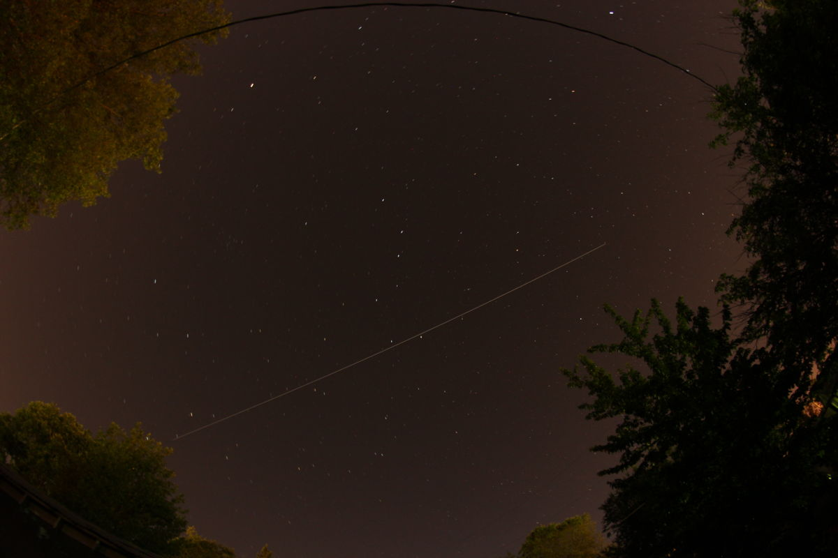 ISS Over Medford, Oregon, on June 5, 2013