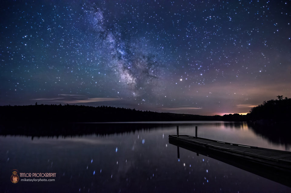 Milky Way Over Lake St. George, Maine